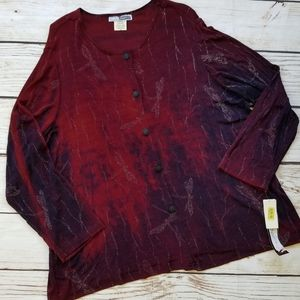Vintage CM Shapes NWT Deadstock Dragonfly Blouse